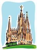 Barcelona (der Sagrada Familia) Lizenzfreie Stockbilder