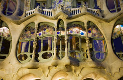 Barcelona - detail from casa Batllo from Gaudi Royalty Free Stock Photo