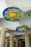 barcelona details mosaiken spain Royaltyfria Foton