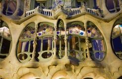 Barcelona - detalle de las casas Batllo de Gaudi Foto de archivo libre de regalías