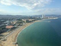 Barcelona do céu Fotos de Stock Royalty Free
