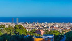 Barcelona do monte foto de stock