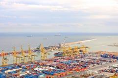 Barcelona Dock. Cargo dock in Barcelona in Spain in summer royalty free stock photography