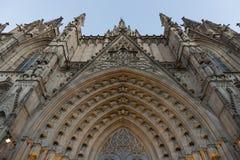 Barcelona domkyrka Arkivbilder