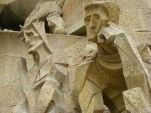barcelona domkyrkadetalj royaltyfria foton