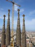 barcelona domkyrkafamilia sagrada Royaltyfri Bild
