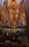 Barcelona domkyrkakyrka Arkivbilder