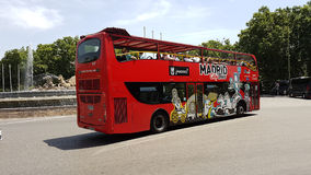 Madrid Double Deck Bus stock image