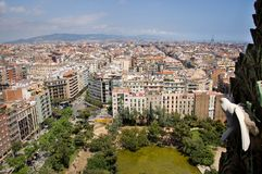 Barcelona - dove's eye view Royalty Free Stock Photography