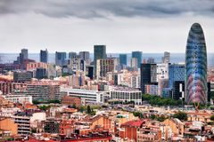 Barcelona Downtown City Skyline. In Catalonia, Spain, financial district royalty free stock photo
