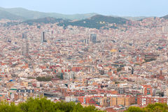 Barcelona at the early evening Royalty Free Stock Image