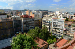 Barcelona Eixample District skyline, Spain Royalty Free Stock Photos