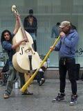Barcelona el abril de 2012, músicos de la calle Fotos de archivo libres de regalías
