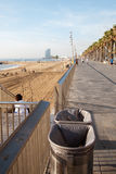 Barcelona embankment, Spain. Royalty Free Stock Image