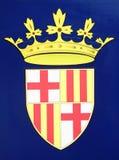Barcelona-Emblem Lizenzfreies Stockfoto