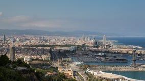 Barcelona en de Middellandse Zee Royalty-vrije Stock Afbeeldingen
