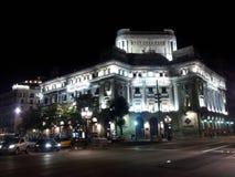 Barcelona en la noche imagen de archivo libre de regalías