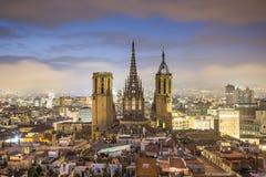 Barcelona en la noche Imagenes de archivo