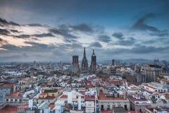 Barcelona en la noche Foto de archivo
