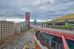 BARCELONA, ESPAÑA - 28 DE ABRIL: Arenas de Las de Barcelona el 28 de abril de 2016 en Barcelona, España Imagen de archivo libre de regalías