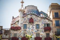 BARCELONA, ESPAÑA - 23 DE ABRIL DE 2016: Arquitectura de Barcelona Tr Imagen de archivo libre de regalías