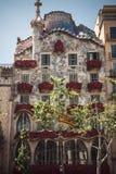BARCELONA, ESPAÑA - 23 DE ABRIL DE 2016: Arquitectura de Barcelona Tr Fotos de archivo