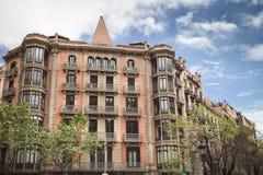 BARCELONA, ESPAÑA - 21 DE ABRIL DE 2016: Arquitectura de Barcelona Tr Fotografía de archivo