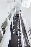 Barcelona, España - 18 de abril de 2016: interior, MACBA Museo De Arte Contemporaneo, museo del arte contemporáneo Fotografía de archivo