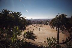 BARCELONA, ESPAÑA - 23 DE ABRIL DE 2016: Parque Guell del arquitecto Anton imágenes de archivo libres de regalías
