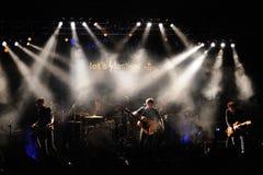 La banda de Mishima se realiza en el Salamandra Foto de archivo libre de regalías