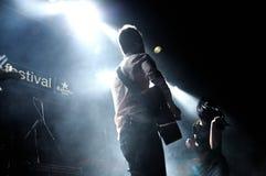 La banda de Prats se realiza en el Salamandra Fotos de archivo libres de regalías