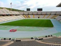 Barcelona, España - 1 de octubre de 2015 - el estadio Olímpico en Montjuic Fotos de archivo libres de regalías