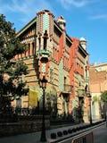 Barcelona, España - 28 de septiembre de 2015 - archit de Vicens Gaudi de la casa Fotos de archivo