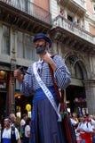 Barcelona, España - 24 de septiembre de 2016: El festival anual Giants de Merce del La desfila Fotos de archivo