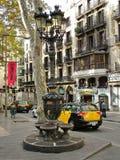 Barcelona, España - 30 de septiembre de 2015 - la fuente famosa de C Fotos de archivo