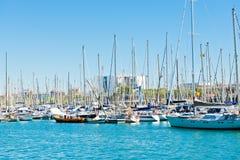 Puerto deportivo en el puerto Vell el 14 de septiembre de 2012, 2009 en Barcelona. Foto de archivo