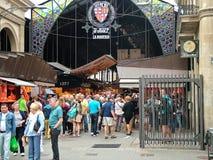 Barcelona, España, el 30 de septiembre de 2015 - mercado Boqueria Rambla Foto de archivo