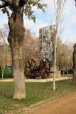Barcelona, España, enero de 2017 Un trabajo del arte moderno es un monumento a la Revolución industrial imagen de archivo libre de regalías