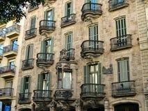 Barcelona, España -28 septiembre de 2015 - casa Calvet Imagen de archivo libre de regalías