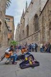 BARCELONA, ESPANHA - 28 DE ABRIL: Quarto gótico de Barcelona o 28 de abril de 2016 em Barcelona, Espanha Fotografia de Stock