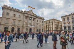 BARCELONA, ESPANHA - 28 DE ABRIL: Quarto gótico de Barcelona o 28 de abril de 2016 em Barcelona, Espanha Imagens de Stock Royalty Free