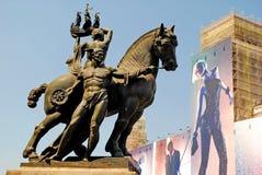 BARCELONA, ESPANHA - 11 DE AGOSTO: Cavalo no si escultural da composição Imagens de Stock