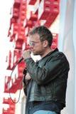 BARCELONA, ESPANHA - 11 DE JULHO DE 2014: Damon Albarn, cantor do borrão, execução viva Foto de Stock Royalty Free