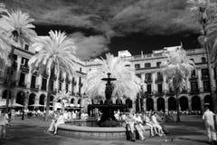 BARCELONA, ESPANHA - 9 DE JUNHO: Plaza real em junho de 2013 em Barcelon Imagens de Stock Royalty Free