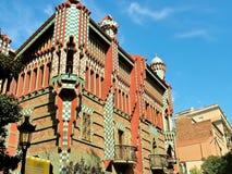 Barcelona, Espanha, o 28 de setembro de 2015 - archite de Vicens Gaudi da casa Imagens de Stock