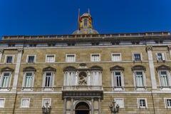 Barcelona, Espanha Palau de la Generalitat de Catalunya Fotografia de Stock