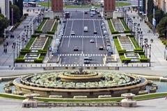 barcelona espanya kwadrat Zdjęcia Royalty Free