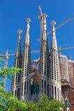 barcelona Europa familia sagrada Royaltyfri Bild