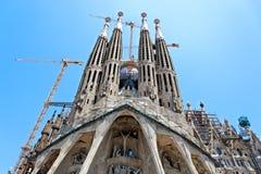 barcelona Europa familia sagrada spain Arkivbilder