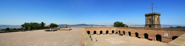 barcelona fästning royaltyfri bild